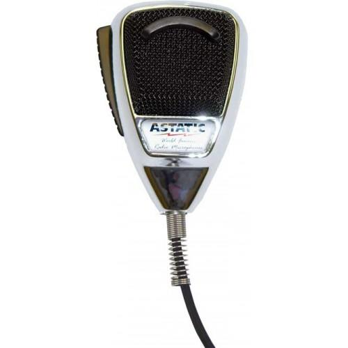 Astatic 636L-C Noise Cancelling Microphone Chrome