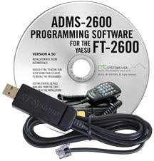 ADMS-2600 Programming Software and USB-29C cable for the Yaesu F