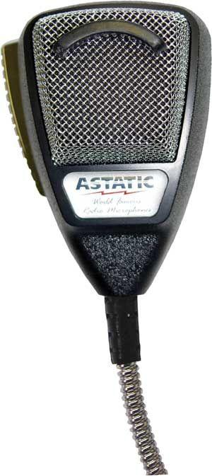 Astatic 636L-SE4M Noise Cancelling Microphone Silver Edition