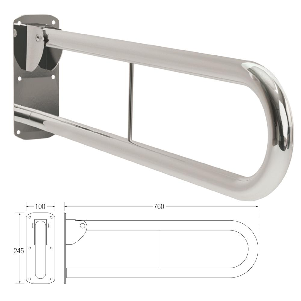 35mm Friction Double Hinged Support Rail (Stainless Steel)
