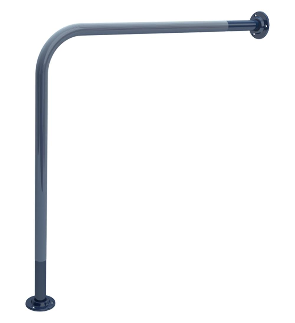 35mm Wall To Floor Grab Rail Blue