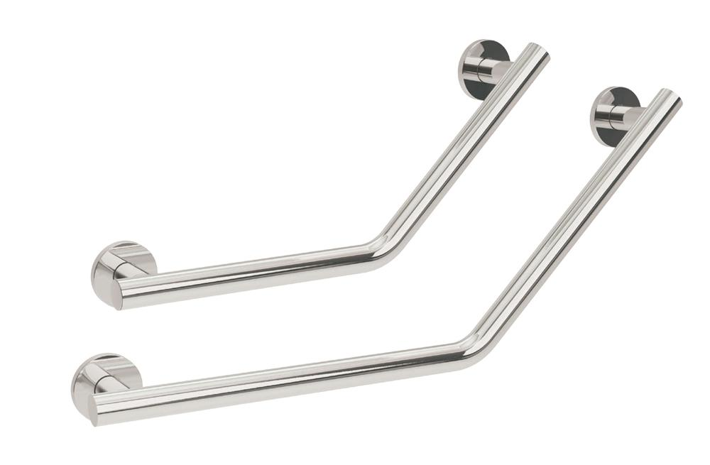 Yardley Cranked Grab Rail in 35mm Stainless Steel