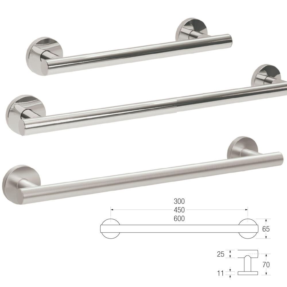 Yardley Straight Grab Rail in 25mm Stainless Steel