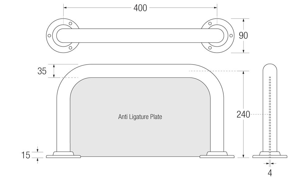 Anti-Ligature Backrest Measurements