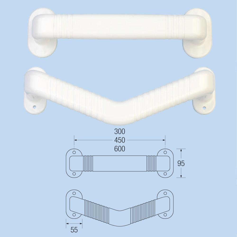 ABS Ribbed Grab Rails