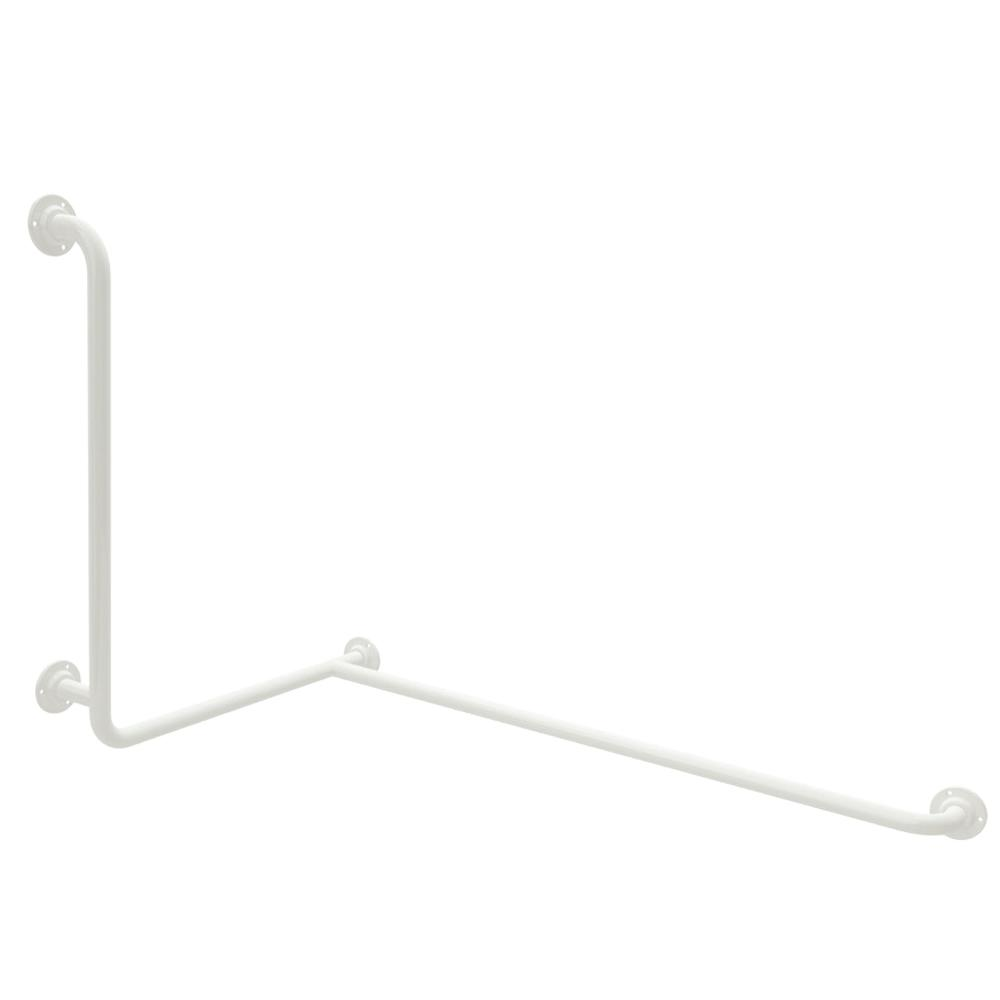 Corner Grab Rail with Vertical Support