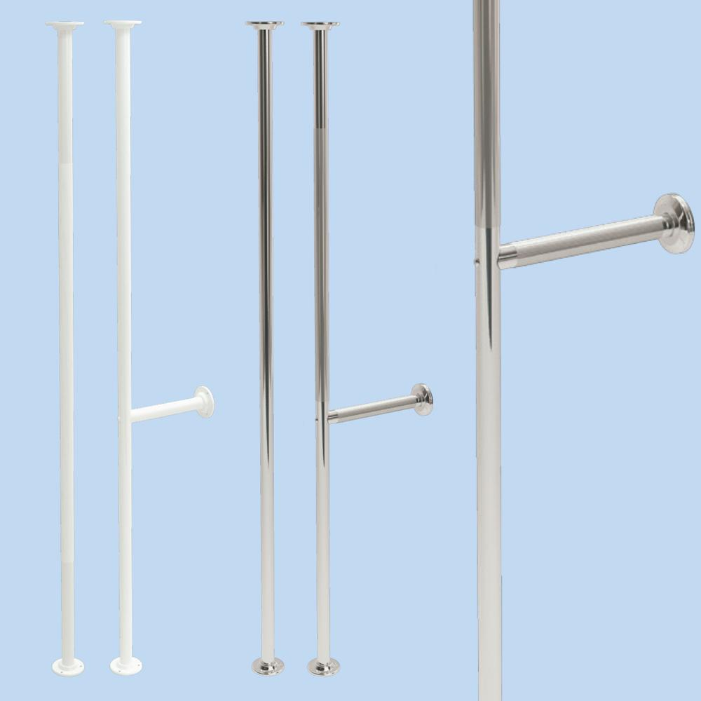 Vertical Grab Poles 35mm in Stainless Steel
