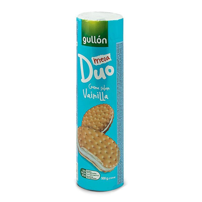 Gullon Mega Duo Vanilla Cream Biscuits 500g