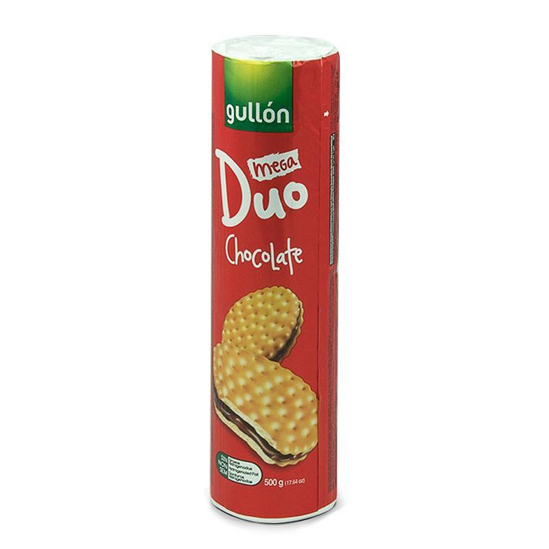 Gullon Mega Duo Choc Cream Biscuits 500g