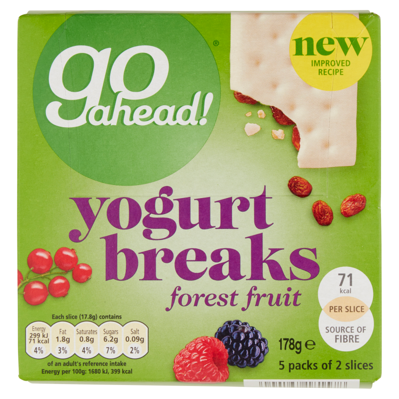 Go Ahead Yogurt Breaks Forest Fruits