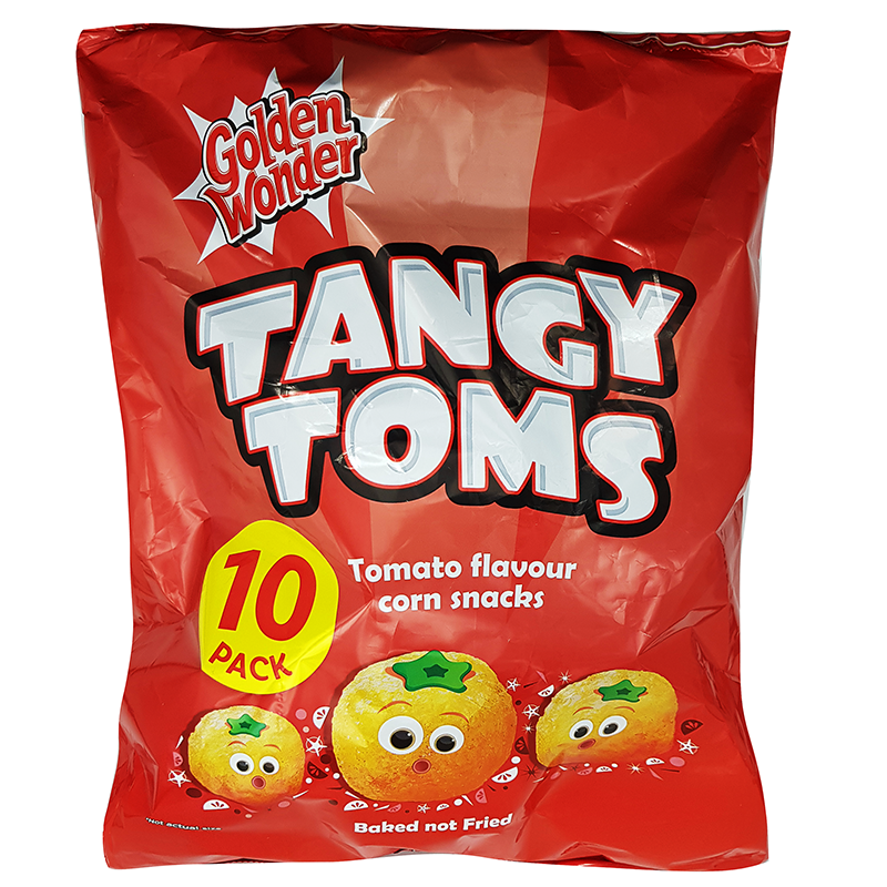 Golden Wonder Tangy Toms 10Pk