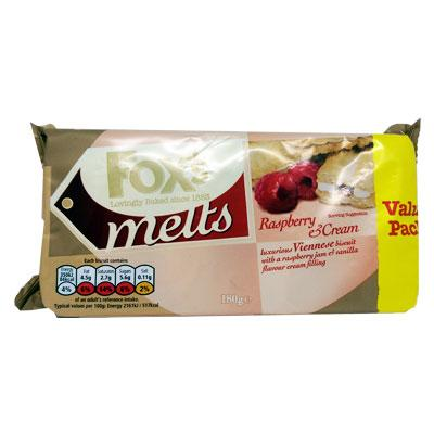 Fox's Viennese Melts Raspberry & Cream