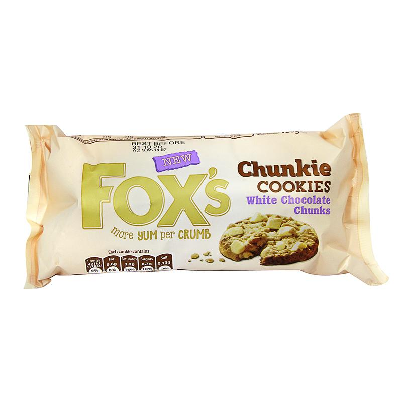 Fox's Chunkie White Chocolate Chip Cookies