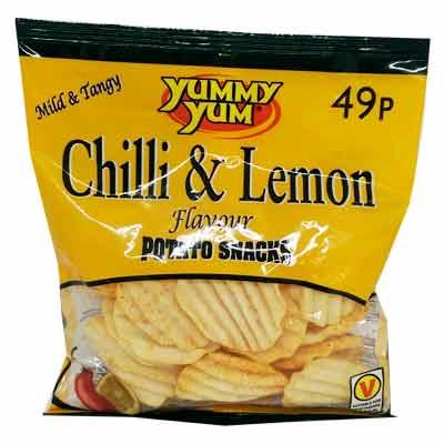 Yummy's Chilli & Lemon Crisps