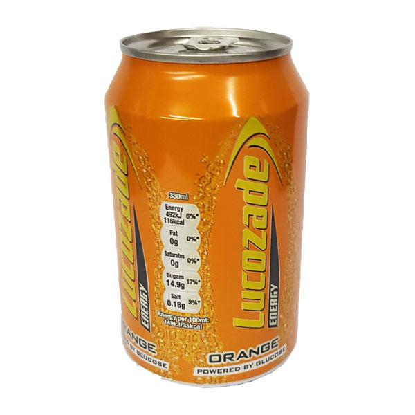 Lucozade Energy Orange Cans