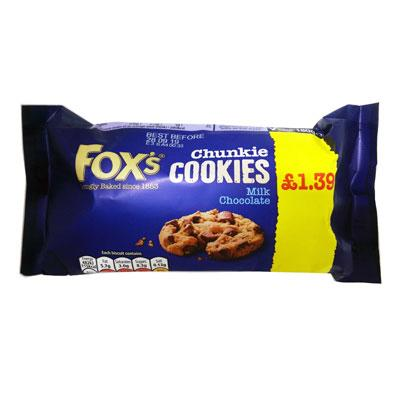 Fox's Milk Choc Chunkie Cookies