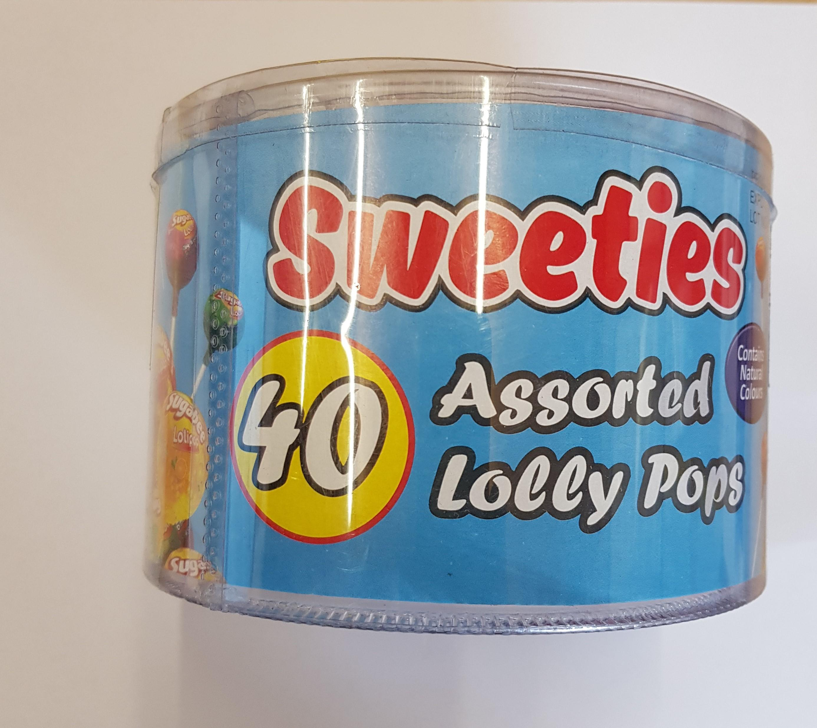 Sweeties Lolly Pops Tub x12