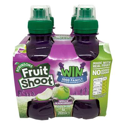 Fruit Shoot Apple & Blackcurrant NAS 200ml 4pk x6