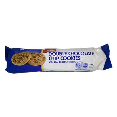 Coles Double Choc Chip Cookie
