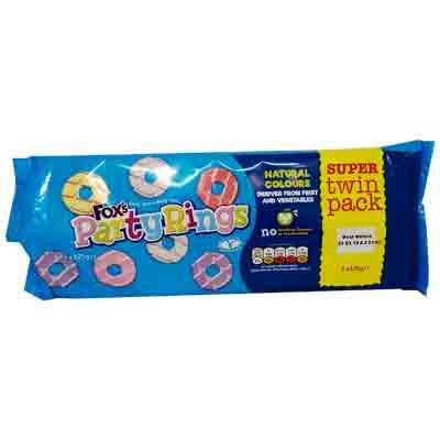 Fox's Party Rings Twin Pk x8