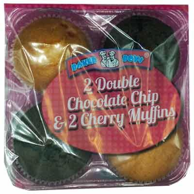 Double Choc. & Cherry Muffins