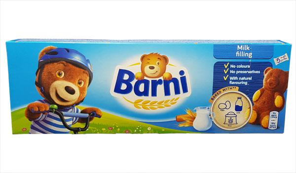 Barni Bear Milk Filling 5Pk x24