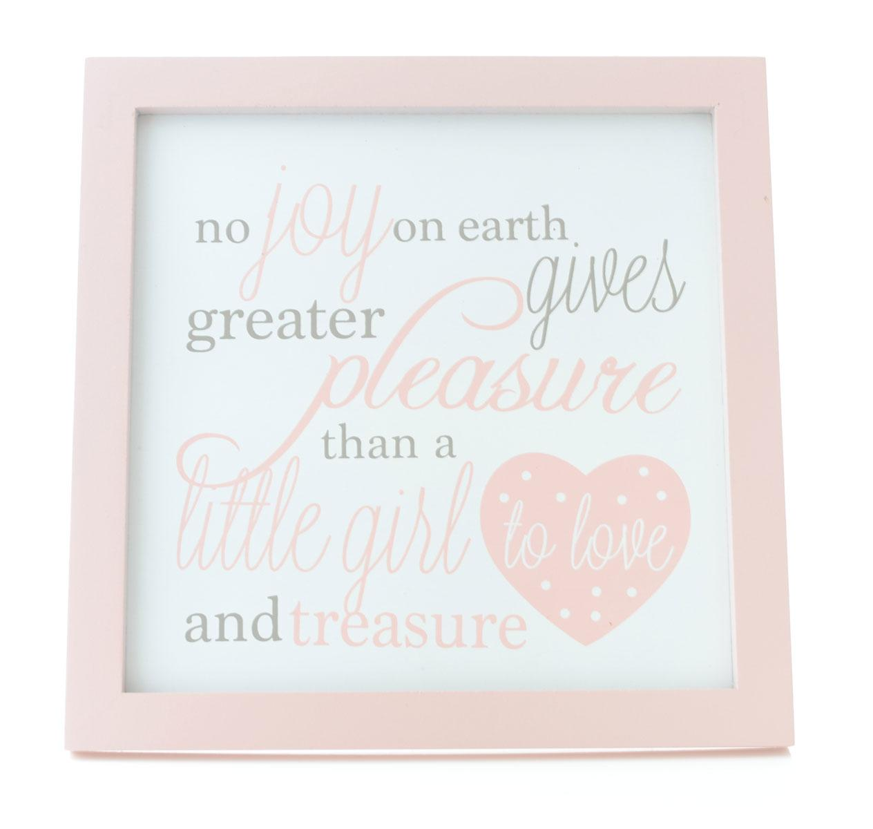 Girls Sweet Poem Wooden Hanging Wall Plaque