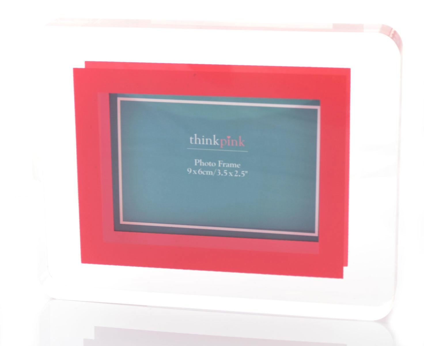 Small Acrylic Block Photo Frame Red