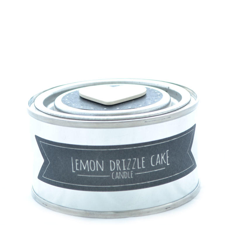 East of India Small Candle in a Tin - Lemon Drizzle