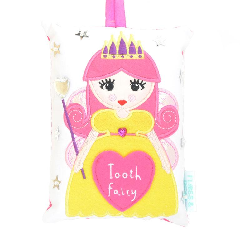 Girls Pink Fabric Fairy Tooth Fairy Pillow