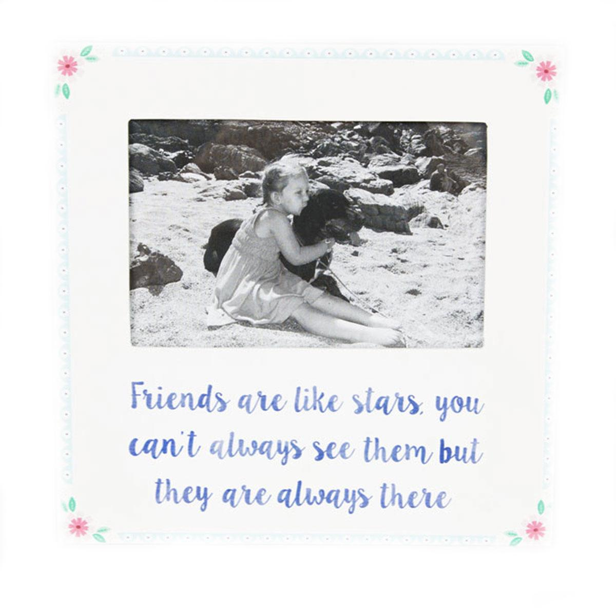 Good Friends Are Stars White Box Photo Frame