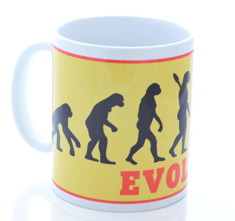 Retro Yellow Evolve Cycling Mug