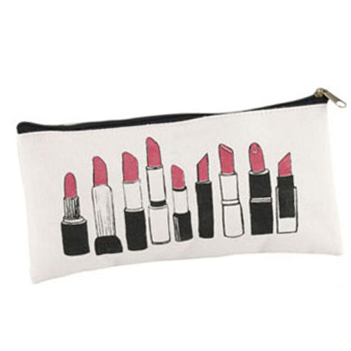 Let's Make Up Cotton Cosmetics Bag Lipsticks