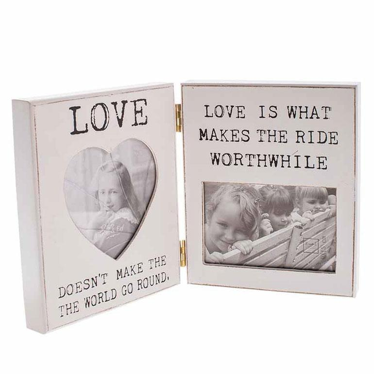 Heaven Sends Hinged Love Double Photo Frame