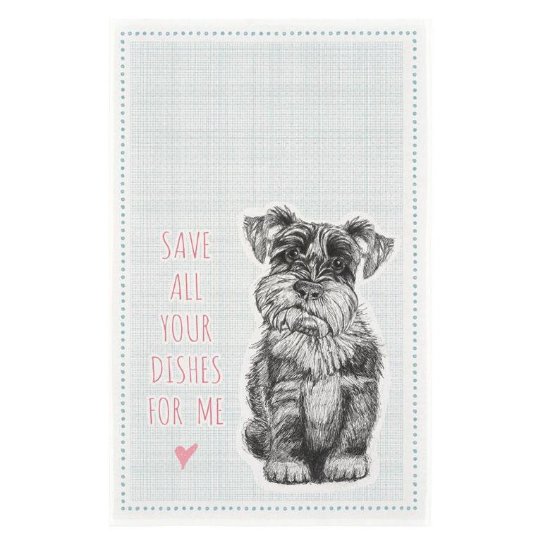 Save Your Dishes For Me Cotton Tea Towel