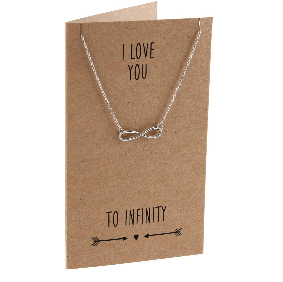 Love You To Infinity Pewter Necklace