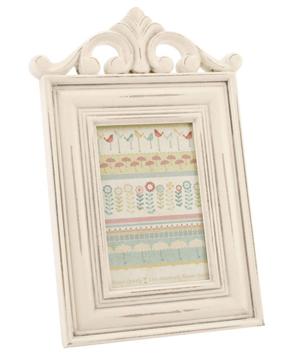 Cream Ornate 6x4 Portrait Photo Frame