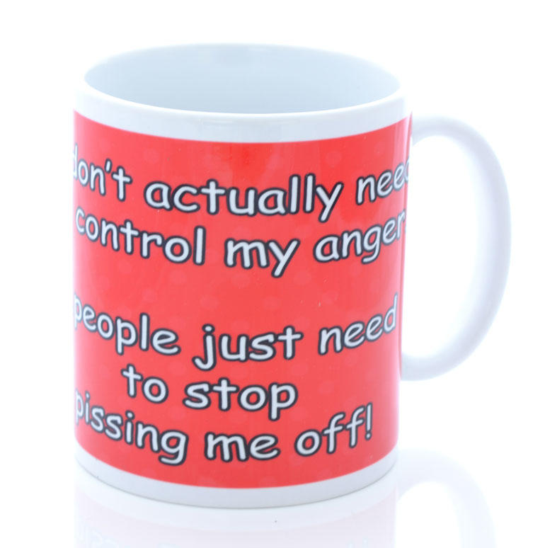 Red Retro Don't Need to Control My Anger Mug