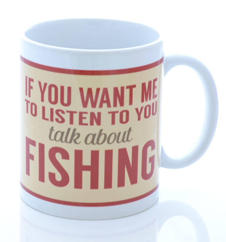 Cream Retro Talk To Me About Fishing Mug