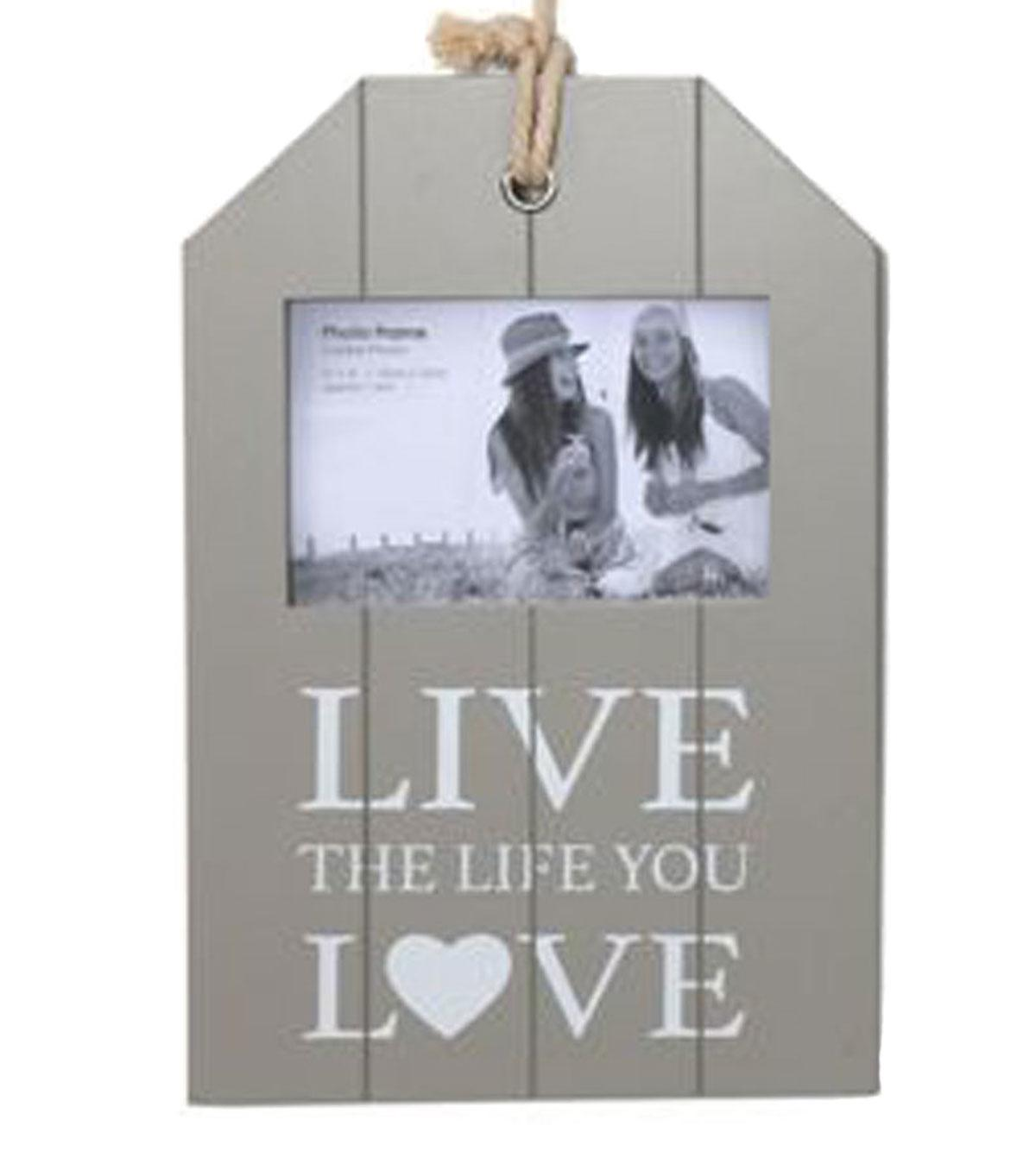 Grey Live The Life You Love 6x4 Picture Frame