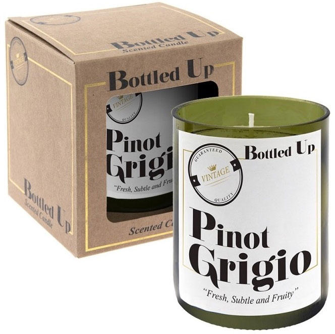 Green Bottle Up Pinot Grigio Scented Candle