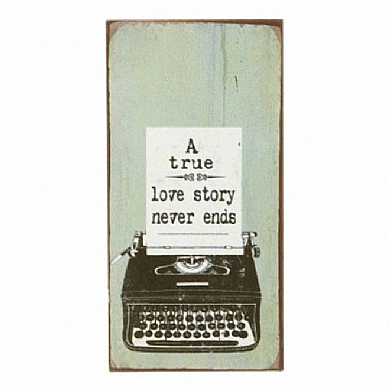A True Love Story Vintage Fridge Magnet Mini Metal Sign