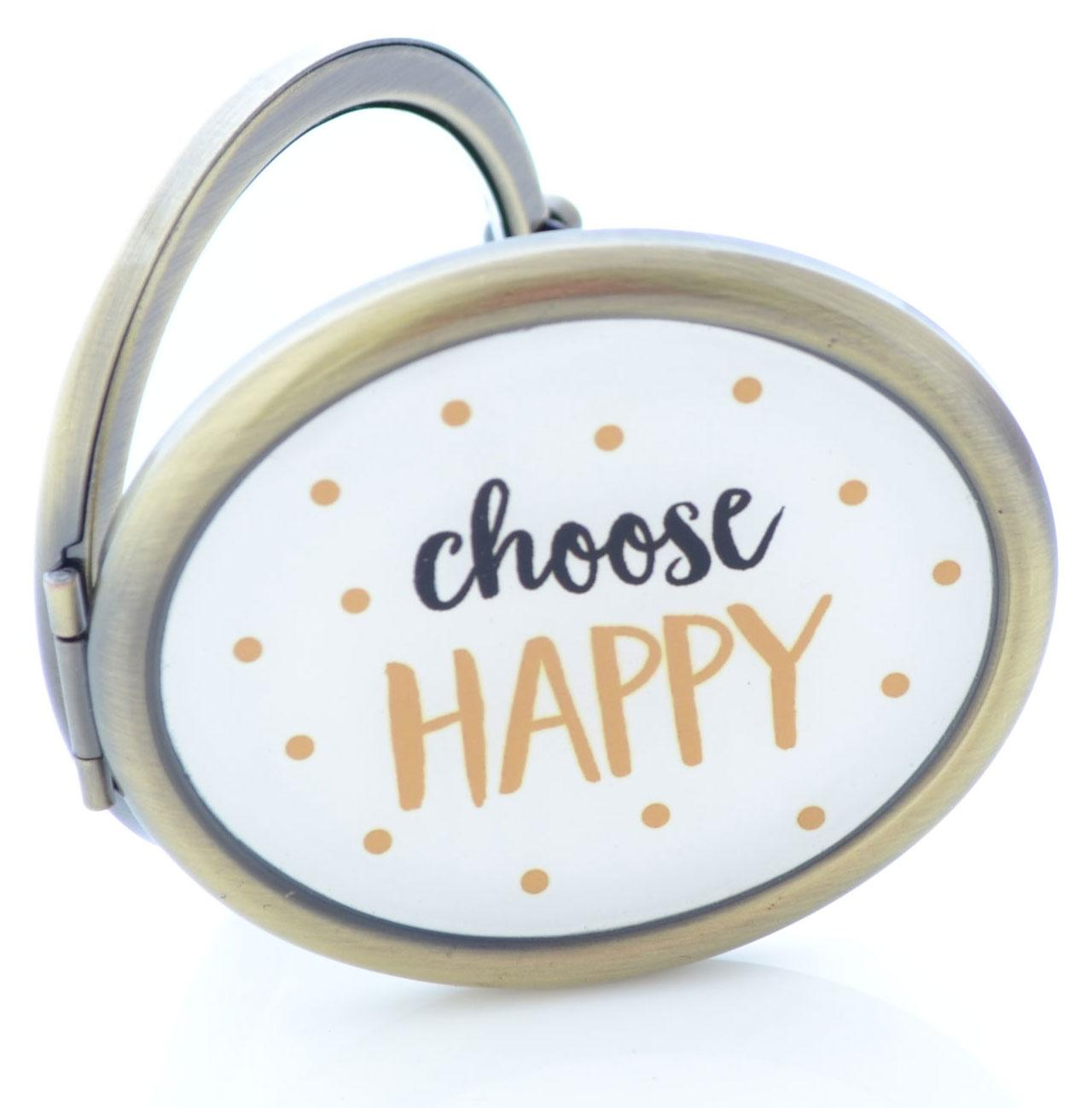 Choose Happy Sass Belle Compact Mirror