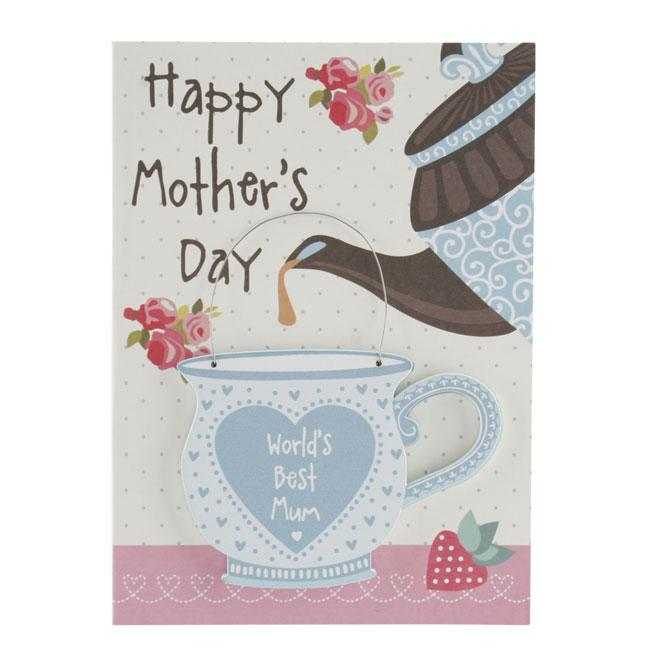 Happy Mothers Day Card and Wooden Hanger Keepsake