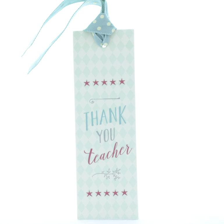East of India Thank You Teacher Paper Bookmark