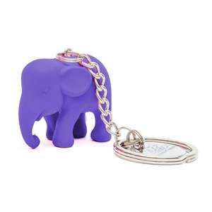 Elephant Parade Key Ring Purple ElElephant Paradehant in Silicone M1