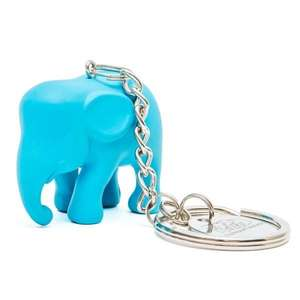 Elephant Parade Key Ring Light blue ElElephant Paradehant in Silicone M1