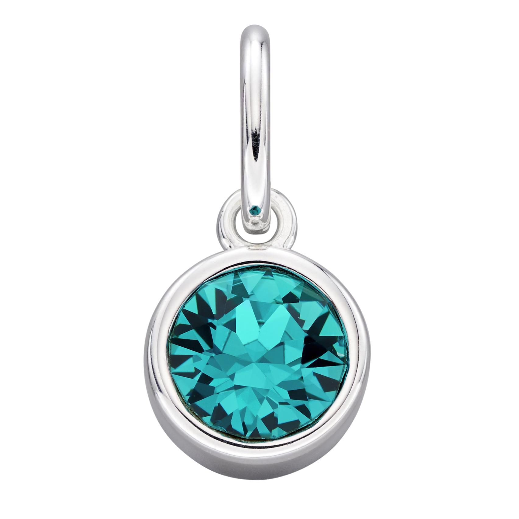 Details about  /.925 Sterling Silver Oval Blue CZ Charm Pendant MSRP $131