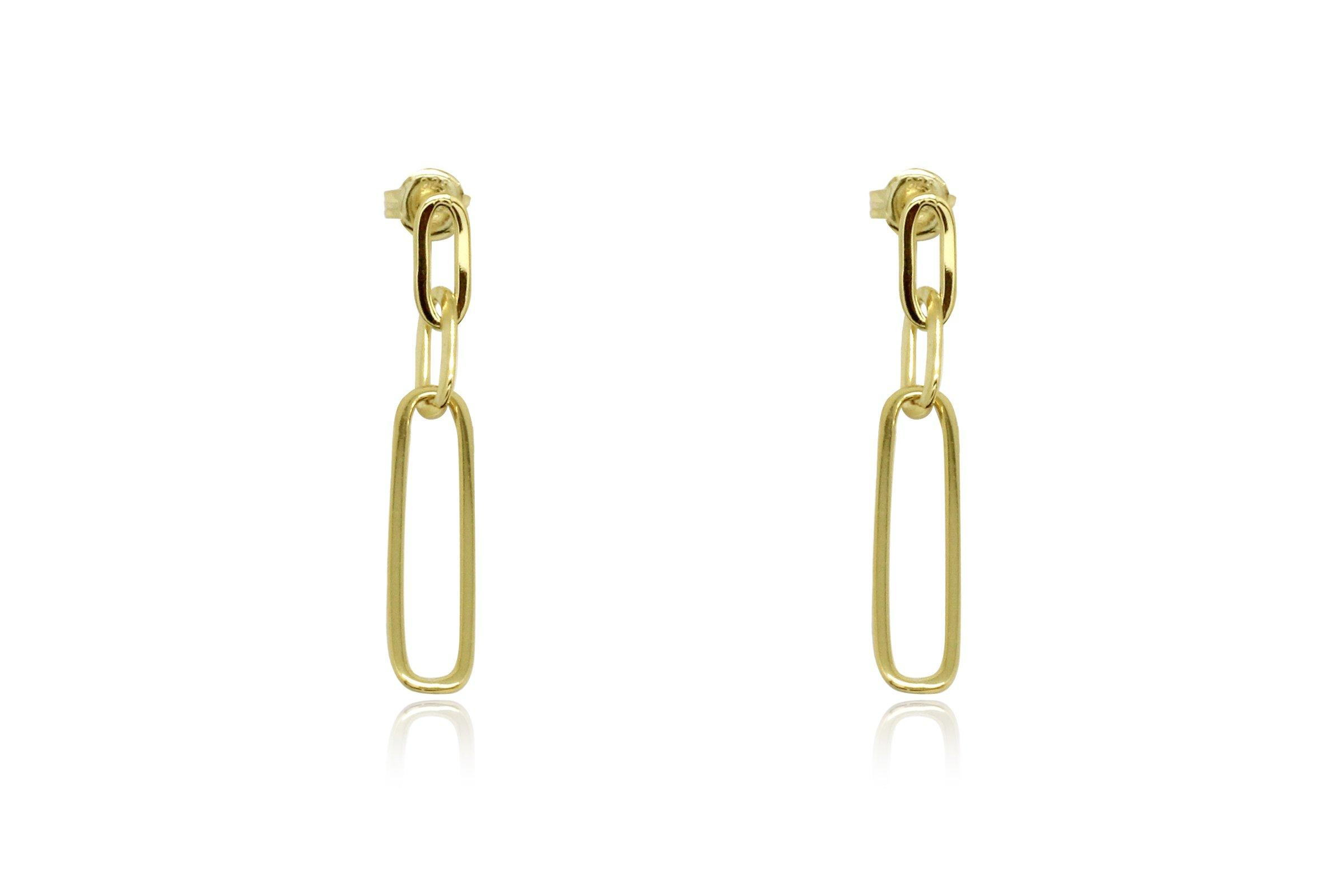 Image#1 Alto Gold Chain Drop Earrings