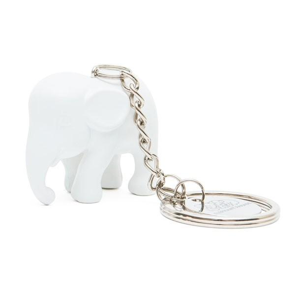 Elephant Parade Key Ring White ElElephant Paradehant in Silicone M1